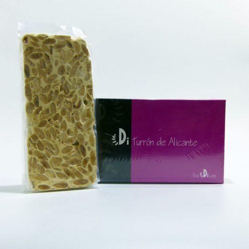 Tableta de turrón artesano de Alicante Diferente – 300 gramos